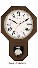 Acctim Wooden Roman Numerals Pendulum Wall Clock Dark Wood 28316 New Original