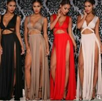 Dresses women's Long Sleeve summer Cocktail Womens V Neck Loose beach Party Maxi