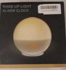 Wake Up Light Alarm Clock Lamp Radio Sunrise Fading Sunset Open Box