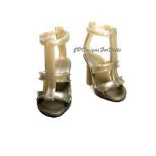 Barbie Basics Model Muse Grey T-Strap High Heel Shoes