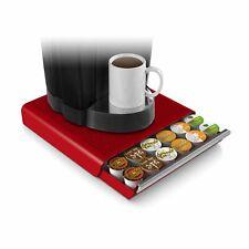 36 K-Cups Drawer Rack Red Coffee Capsules Holder Organizer Keurig Pods Storage