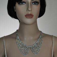 Luxus Strass Collier Kette Kragen Halskette Choker Braut Schmuck klar KZZ1 hell