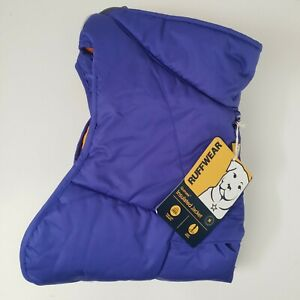 "Ruffwear Quinzee Insulated Jacket Size Medium 27-32"" Huckleberry Blue"