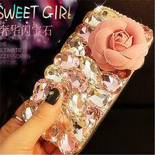 Shine Bling Diamonds Crystal Thin Clear Soft Gel TPU Back Phone Cover Case B-1