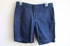 J. Crew 2 Navy Blue Broken-In Chino Shorts 100% Cotton 10445