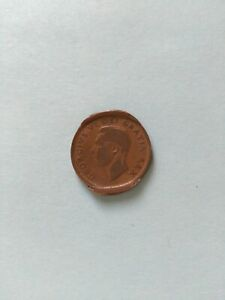 1952 Planchet Flaw Error Canadian Small Penny (1c), No Reserve!