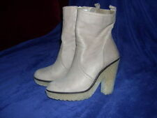 Bottines TEXTO en cuir beige Pointure 38