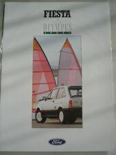 Ford Fiesta Olympus Sport brochure Sep 1988