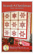 New Pieced Quilt Pattern SCANDI CHRISTMAS WALLHANGING 33x33