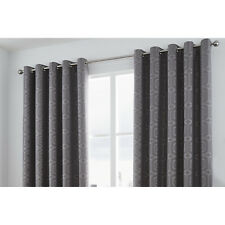 Hazelwood Home Camberwell Eyelet Curtains Graphite Grey 168cm W X 229cm D