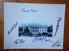 RONALD REAGAN GEORGE BUSH  8x10  SIGNED JIMMY  CARTER CHRISTMAS GIFT MAKE OFFER