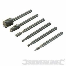 Silverline 3.1mm dia Mandrel HSS Router Cutter Kit 6  457038