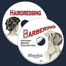 Barbering & Hairdressing Vintage Books Collection 36 PDF E-Books on 2 CD Cutting