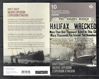 VC829 CANADA - BOOKLET - 2017 10 X P .85c CPLT MINT NH VF 1917 HALIFAX EXPLOSION