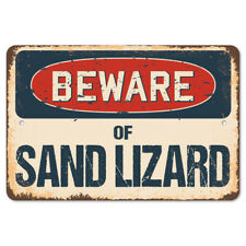 Beware Of Sand Lizard Rustic Sign SignMission Classic Plaque Decoration