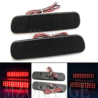 2X LED Rear Bumper Reflector Brake Light For Lexus LX470 Toyota Land Cruiser L+R