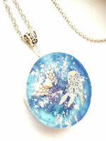 Orgone Orgonite necklace pendant Call Angels, Dreamcatcher, positive energy