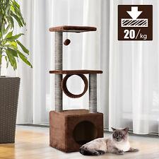 Árbol para gatos Rascador Grande con Plataformas Casetas Bolas de Juego 104cm