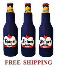 Spoetzl Brewery Shiner Beer 3 Bottle Suit Coolers Koozie Coolie Huggie New