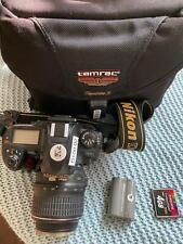 Nikon D100 Digital Slr Camera w/ 18-55 Vr Lens,Charger,Battery,Bag and 4Gb Cf