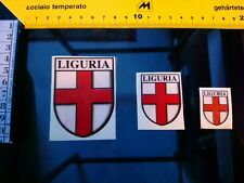 02a Sticker  3  coat of arms OF liguria italy mint