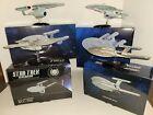 Star Trek Eaglemoss NX-01, NCC 1701, NCC 1701-C, 1701-D Ships