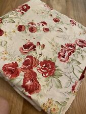 Pottery Barn Floral FULL/QUEEN Duvet Cover Floral Pink Green Yellow Cream