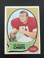 1970 Topps Ed Budde # 77 Kansas City Chiefs