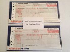ORIGINAL LISA MARIE PRESLEY PLANE TICKET - JUNE 1977 - ELVIS / GRACELAND RARE
