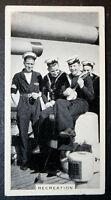 HMS LONDON  Royal Navy Cruiser  Crew    Vintage Photo Card