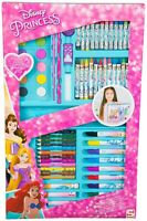 Disney Princess 68 Piece Art Case Set Painting Kids Childrens Toy In Carry Box