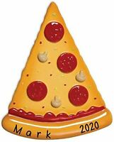 Personalized PIZZA SLICE Christmas Hanging Tree Ornament HOLIDAY GIFT 2020