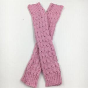 Women Winter Warm Leg Warmers Cable Knit Ladies Knitted Socks Leggings Crochet