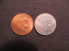 (2) New Jersey State Tokens - NJ Coins - Edison's Home - States Of The Union