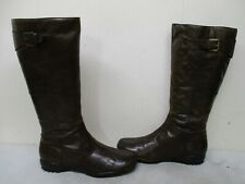 Steve Madden Non-stop Brown Leather Zip Comfort Boots Womens Size 8.5 M