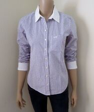 NEW Abercrombie Womens Plaid Button Down Shirt Size Small Blouse Pink & White