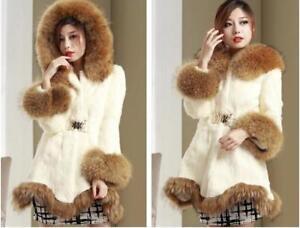 Women Winter Warm Fluff  Long Trench Coat Jacket Outwear Faux Fur Overcoat New