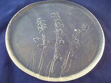 Vintage Lily of the Valley Heavy Tempered Glass Trivet Textured Hot Plate