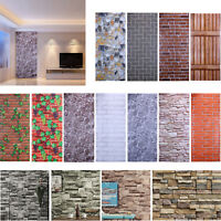 Self Adhesive Brick Wall Stickers Patterns DIY Living Room Students Dorm Decor