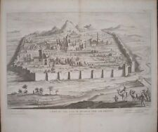 1732 ANCIENT ANTIOCH ORONTES SYRIA TURKEY GREEK CITY 1630 VIEW LARGE ENGRAVING