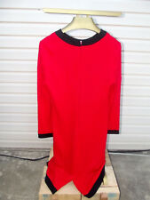 vintage ann tobias red dress size 14 made in U.S.A.