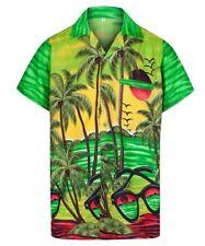Camicie casual e maglie da uomo verde floreale