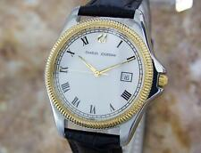 Charles Jourdan Mens Swiss Made Gold Plated Stainless S Quartz Dress Watch Y62