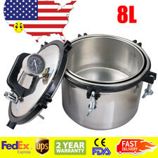 8L Medical Dental Steam Autoclave Sterilizer Sterilization Equipment Stainless