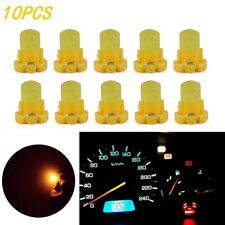 10pcs T3 Yellow Wedge LED Bulbs Instrument Dash Dashboard Gauge Base Lamp Lights