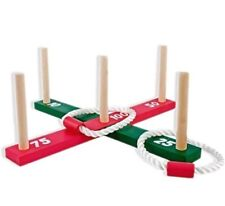 Hillington Garden/outdoor rope quoits and wooden pegs throwing game