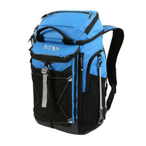 Titan Deep Freeze 26 Can Black Backpack Cooler With Ice Walls Free Shipping