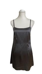 MARC JACOBS Wool Spaghetti Strap Slip Dress Satin Grey / Pewter Size 2 XS/S $450