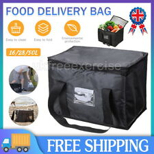 More details for large food delivery insulated bags pizza takeaway thermal warm cold bag ruck hot