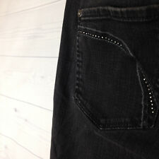 APT 9 Maxwell Fit Bootcut Women's Size 8 Stretch Black Embellished Denim Jeans